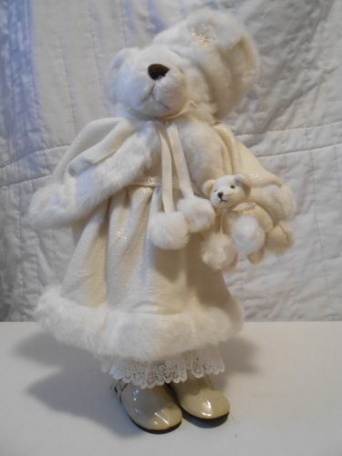 (Victorian Bear Plush In Faux Fur Cape and Hat)