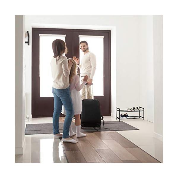 Relaxdays 10020563 Meuble à chaussures SANDRA avec 2 étages étagère en métal HxlxP: 33,5 x 69,5 x 26 cm pour 6 paires…