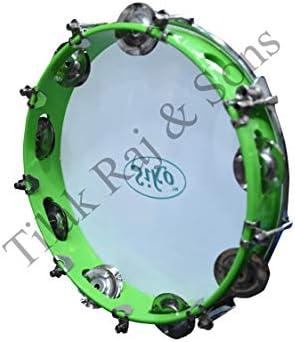 TILAK RAJ & SONS Siko Reeds-Fibre Dafli/Tambourine (Random Colour, 10 Inch/24cm Diameter, 5cm Width)