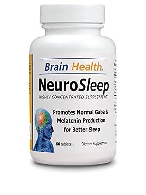 Neuro Sleep - Brain Health - 60 Tablets - 100% Natural Supplements - Dietary Supplements