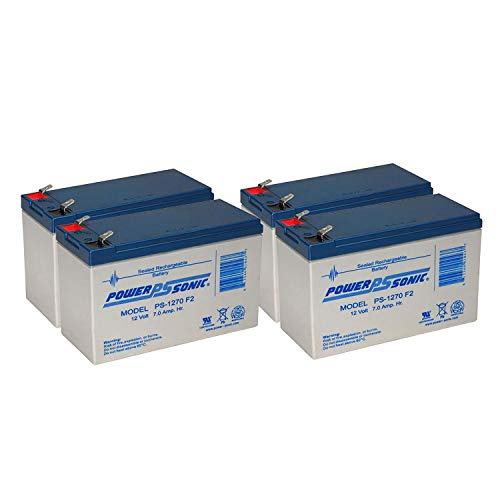 PS-1270 12 Volt 7 AH SLA Battery .250 F2 TERMINAL - 4 Pack