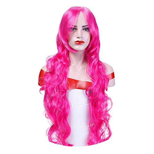 Orange Long Wavy Cosplay Wigs 10 Colors Heat Resistant Synthetic Hair Costume Halloween Party Wig,#1,28inches ()