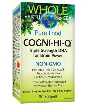 Natural Factors - Whole Earth & Sea Cogni-Fit Triple Strength Dha, 60 Soft Gels
