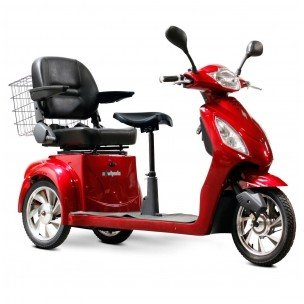 2-Passenger Senior Scooter in Red (2 Person Electric Scooter)