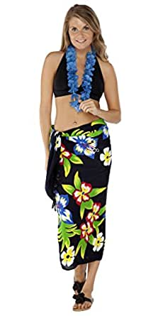 1 World Sarongs Womens Hawaiian Swimsuit Cover-Up Sarong
