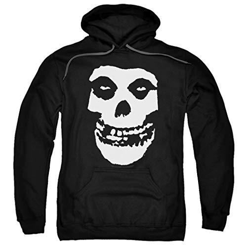 Popfunk Misfits Officially Licensed Skull Pullover Hoodie Sweatshirt & Stickers (XXX-Large) Black