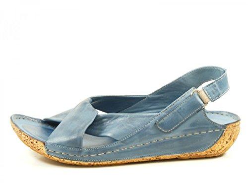Gemini 32024-02 Sandalias fashion de cuero mujer Blau