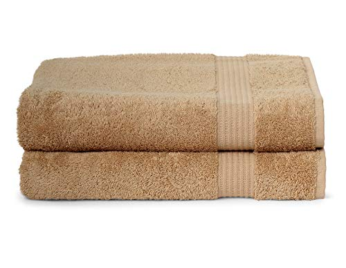 (TowelSelections Sunshine Collection Soft Towels 100% Turkish Cotton 2 Bath Towels Beige)