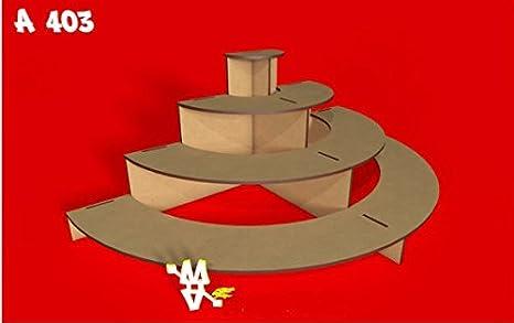 Kit para hacer tribuna semicircular porta cupcakes de madera DM para candy bar mesa dulce. Medidas: 50cm x 25xm x 18cm de alto: Amazon.es: Hogar