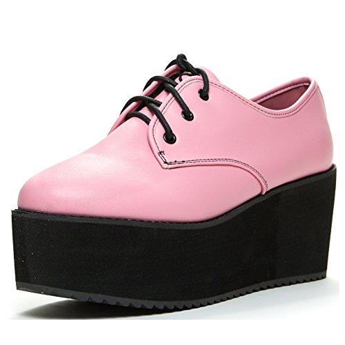 Stomp Womens Platform (STRANGE CVLT Stomp' Platform Oxford, Pink, 9)