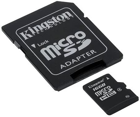 Class 4 Professional Kingston 16GB MicroSDHC Card for Panasonic HDC-SD60 with custom formatting and Standard SD Adapter!