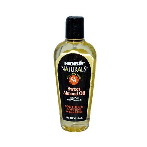 2 Packs of Hobe Labs Hobe Naturals Sweet Almond Oil - 4 Fl Oz by Hobe Labs