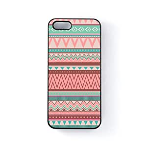 Pastel Turquoise And Pink Tribal Aztec Pattern Black Hard Plastic Case Snap-On Protective Back Cover for Apple® iPhone 5 / 5s by UltraCases + FREE Crystal Clear Screen Protector