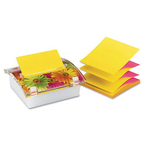 Post-it Pop-up Notes Products - Post-it Pop-up Notes - Pop-up Note Dispenser with Designer Daisy Insert, One 45-Sheet Pad, - Sold As 1 Each - Provides continuous dispensing of accordion-style notes and is weighted for easy one-handed dispensing. - Keeps y by Post-it