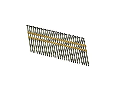 "Grip Rite Prime Guard GR034HG1M 21 Degree Plastic Strip Round Head Exterior Galvanized Collated Framing Nails, 3-1/4"" x 0.131"""