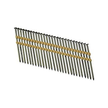 """Grip Rite Prime Guard GR034HG1M 21 Degree Plastic Strip Round Head Exterior Galvanized Collated Framing Nails, 3-1/4"""" x 0.131"""""""
