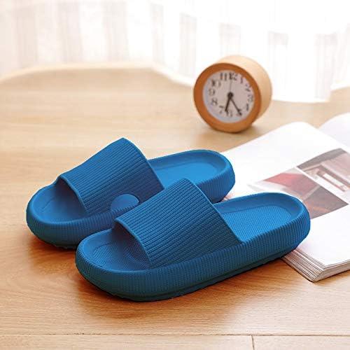 Amazon.com: Zeess Pillow Slides Slippers Thick Platform Slippers Indoor Bathroom Slipper Soft EVA Anti-Slip Slippers Quick-Drying Open Toe Soft Slippers (Color : Dark Blue, Shoe Size : 10): Home & Kitchen