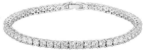 PAVOI 14K Gold Plated Cubic Zirconia Classic Tennis Bracelet | Gold Bracelets for Women | Size 6.5-7.5 Inch