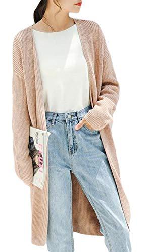 Gergeousレディース ニット ロング カーディガン 無地 ゆったり コーディガン 韓国ファッション ニット セーター 前開き 秋 冬 おしゃれ アウター ロングコート