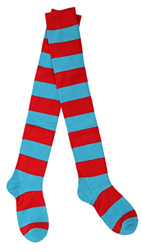 elope Dr. Seuss Thing 1&2 Striped Knee High Socks for Men and Women