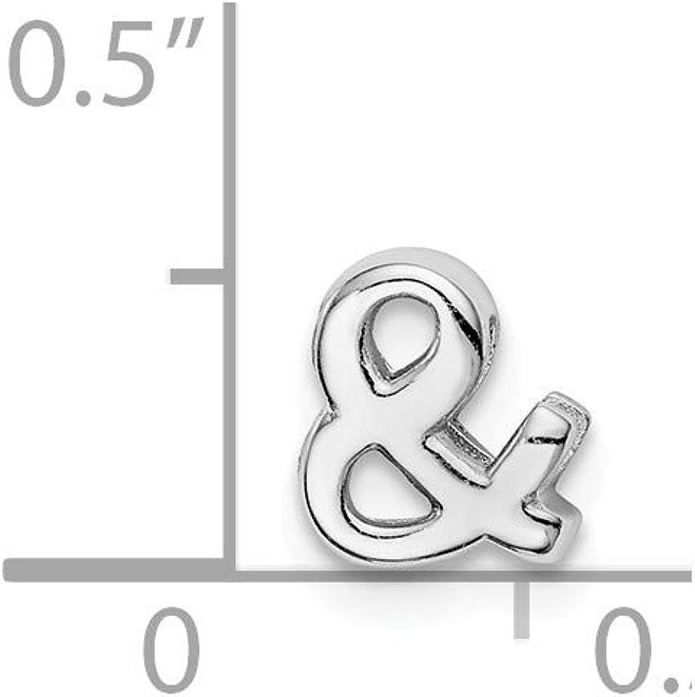 Solid 925 Sterling Silver Ampersand Slide Charm Pendant