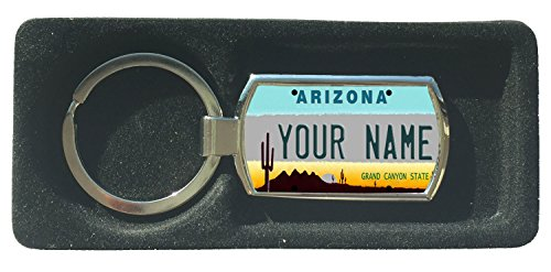 BleuReign(TM) Personalized Custom Name Arizona State License Plate Metal -