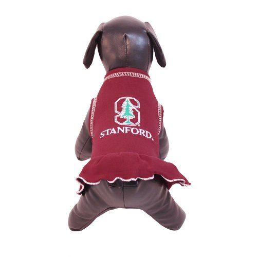 NCAA Stanford Cardinal Cheerleader Dog Dress (Team Color, X-Small) by All Star Dogs