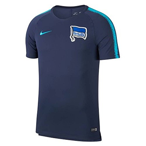 Nike 2018-2019 Hertha Berlin Training Football Soccer T-Shirt Jersey (Navy)