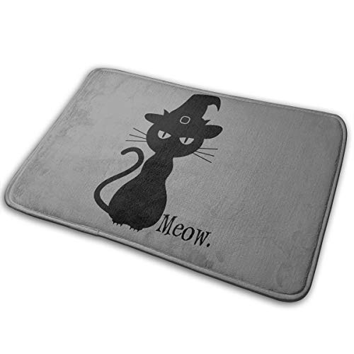Alpha Doormat Black Cat Halloween Bath Mat Non Slip Rug Bathroom Bedroom Entrance Carpet 16