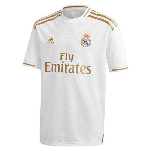 adidas 2019-2020 Real Madrid Home Football Soccer T-Shirt Jersey (Kids)