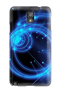 Perfect Fit WsUweBv1381zxUVN Glowing Blue Sparkles And Circles Case For Galaxy - Note 3