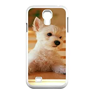 Yearinspace Cute Puppy Samsung Galaxy S4 Case Cute Adorable Puppy Protector for Girls, Samsung Galaxy S4 Cases for Girls Cheap Protector for Girls [White]