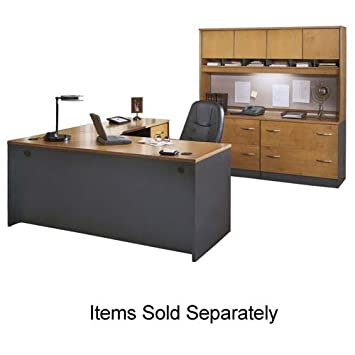 Bush Series C L-Hutch For Reception Desk-Return Bridge - 72w x 71d x 14h - Dark Cherry - EA - BSHWC24476