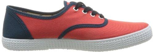 Contrast Detall de tela Lona Rouge Deporte Rojo de Inglesa Victoria Unisex Zapatillas Coral qwAnaRXt