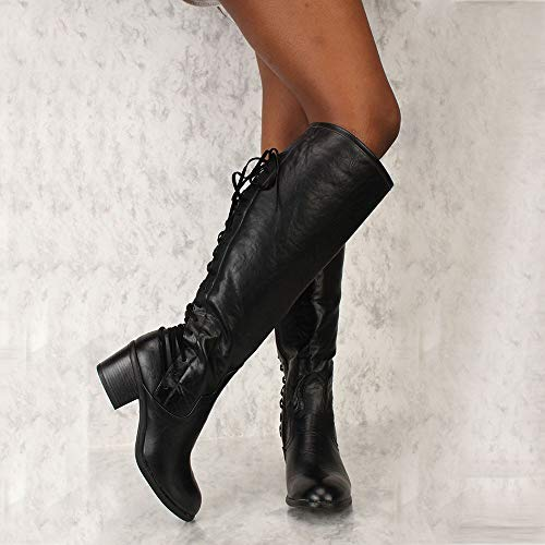 Donna Running Con Donna Invernali Pelle Sexy In Donna Stivali Tacco Da Stivali Stivali Sneakers Invernali Sexy ASHOP Nero Alto z4SqadXq