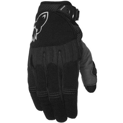 Black Joe Rocket Mesh Glove (Joe Rocket Big Bang Men's Textile On-Road Racing Motorcycle Gloves - Black/Black / Medium)