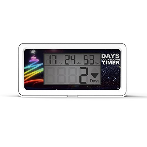 Runleader RL-HM200 LCD Days Count Down Timer DIY Timer for Retirement Wedding Vacation Birthday Christmas Event Classroom New Year(White)]()