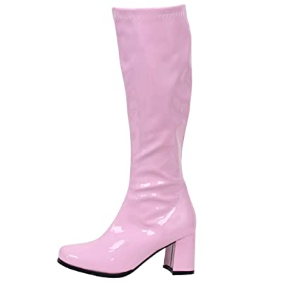 GOGO Boots for Women, Knee High Boots, PU Leather Zip Ladies Party Dress Dance Shoes | Knee-High