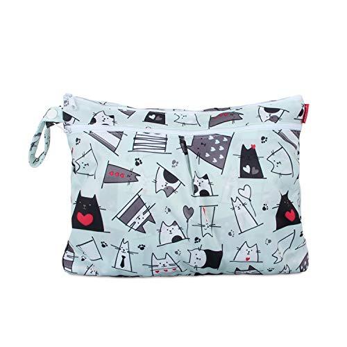 Damero Baby Wet Dry Cloth Diaper Bag, Reusable Wet Dry Nappy Bag, Travel...