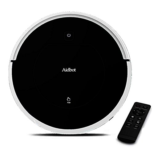 Aidbot Black Smart Robotic Vacuum Cleaner Auto Vacuum Robot Strong Suction and Mopping Cleaning Floor Ultra-thin Sweep Mop Vacuum Cleaning Robot for Pet Hair Carpet Floor Bed Bottom