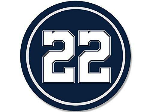 MAGNET 4x4 inch ROUND #22 Emmitt Smith Sticker - cowboys colors number 22 dallas rb pro Magnetic vinyl bumper sticker sticks to any metal fridge, car, signs
