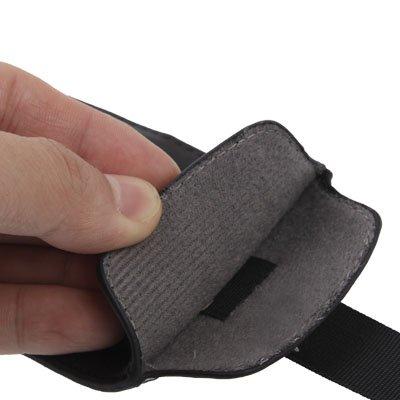 iPhone 5S / 5 Premium Kunstledertasche / Tasche in schwarz aus hochwertigem Lederimitat -Original nur von THESMARTGUARD-