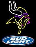 Desung New 24''x20'' Budlight Sports Team M-Vikings Neon Sign (Multiple Sizes) Man Cave Bar Pub Beer Handmade Neon Light FX36