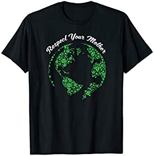 Respect Your Mother Globe Mother Earth Hipster Hippie T-shirt | Size S - 5XL