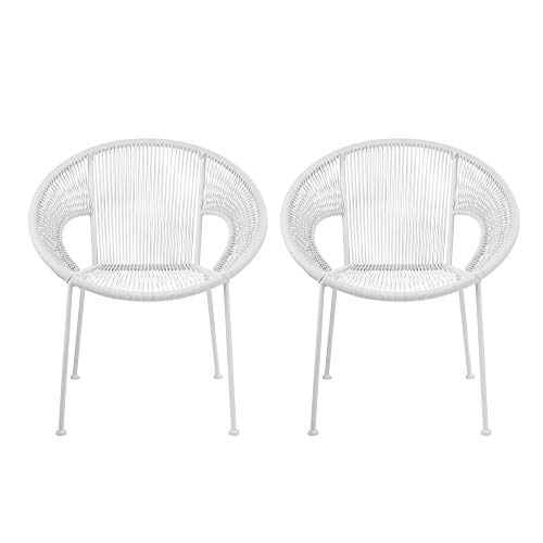 Design Gulid Rattan Wicker Indoor-Outdoor Patio Furniture Dining Chairs – Set of 2