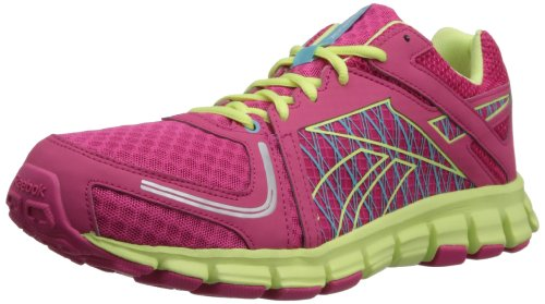 Reebok Women's Smoothflex Flyer Running Shoe,Pink Fusion/Lemon Zest/Hydro Blue/Pure Silver/White,6 M US