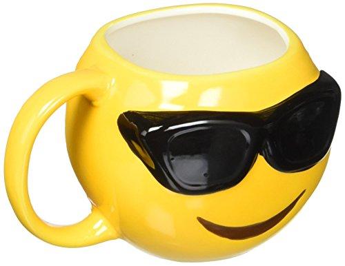 Emo-Gee Cool Sunglasses Emoji 3D Ceramic Mug -