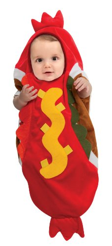 [Rubie's Costume Trick Or Treat Sweeties Baby Hot Dog Costume, Multi, Newborn] (Family Halloween Costumes With Baby And Dog)