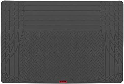 MotorTrend FlexTough TrunkShield Cargo Liner Car Mat for Back of SUV, Sedan & Coupe Trunk Cover, All Weather Heavy Duty Protection, Universal Trim-to-Fit, 47.5″ x 32.2″in