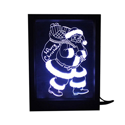 Lisin 3D Photo Frame Lights Night Lights Colorful Touch Remote Control Creative Home decoration (E)